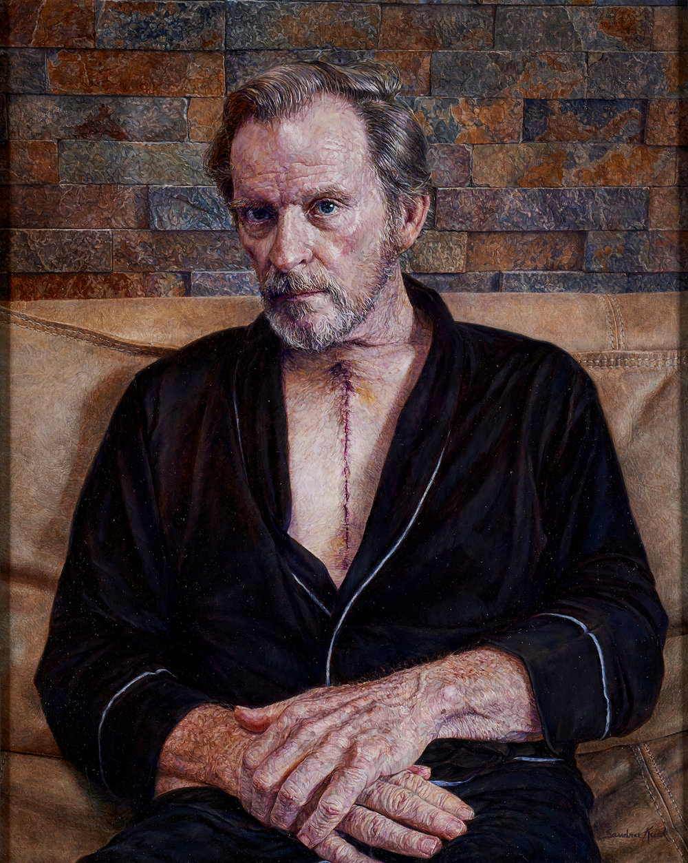 Sandra Kuck  |  Mending Heart (John post-op)  |  Oil on canvas  |  30 x 24 inches or 76 x 61 cm