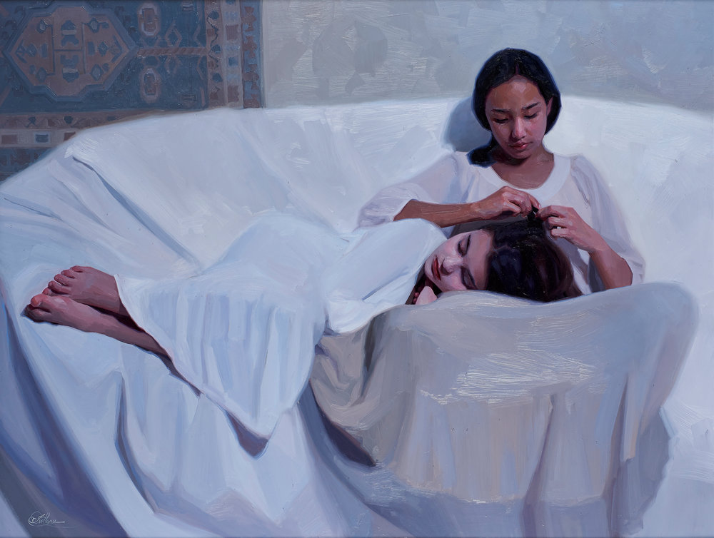 Svetlana Tartakovska  |  Friendship  |  Oil on panel  |  39 ¼ x 51 inches or 100 x 130 cm