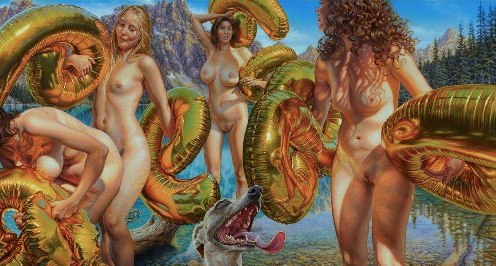 Susannah Martin | Helium | oil on linen |80 cm x 150cm | 2017