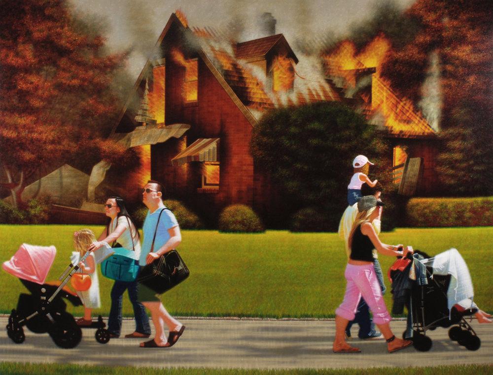 Peter Drake | Overlook | 2008 | acrylic on canvas | 89x117