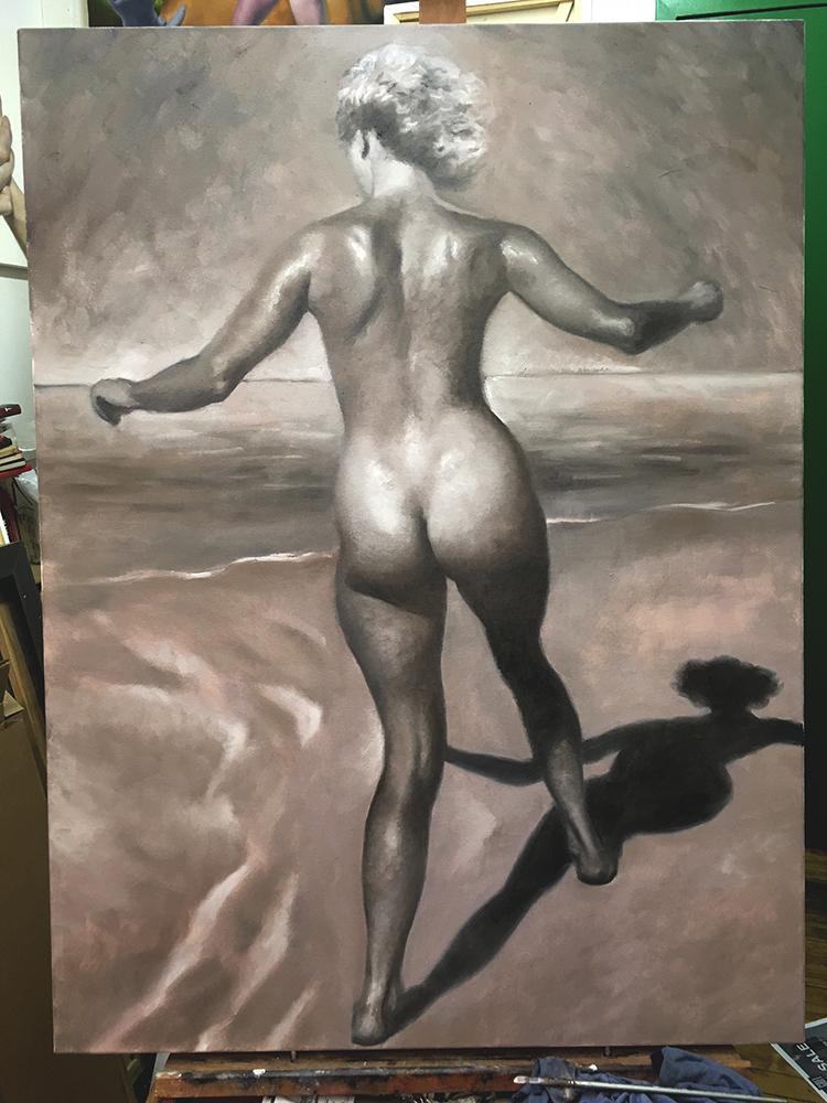 Daniel Maidman |  1952  (work in progress) | oil on canvas | 48x36