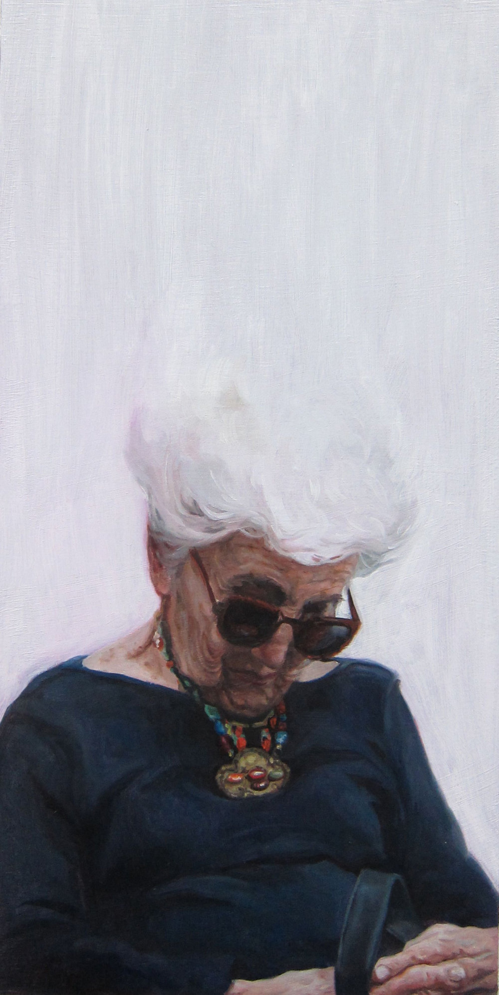 Jodi Gerbi |  Time Passing  | oil on panel | 12x6 inches | 2018