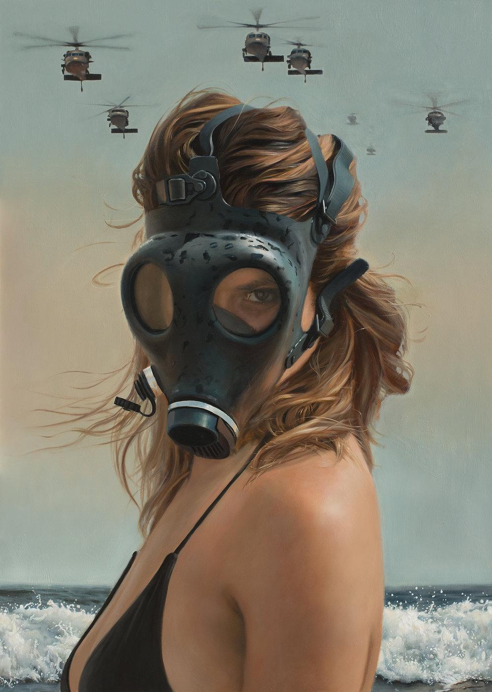 Teresa Elliott | The Arrival | oil on aluminum | 47x33