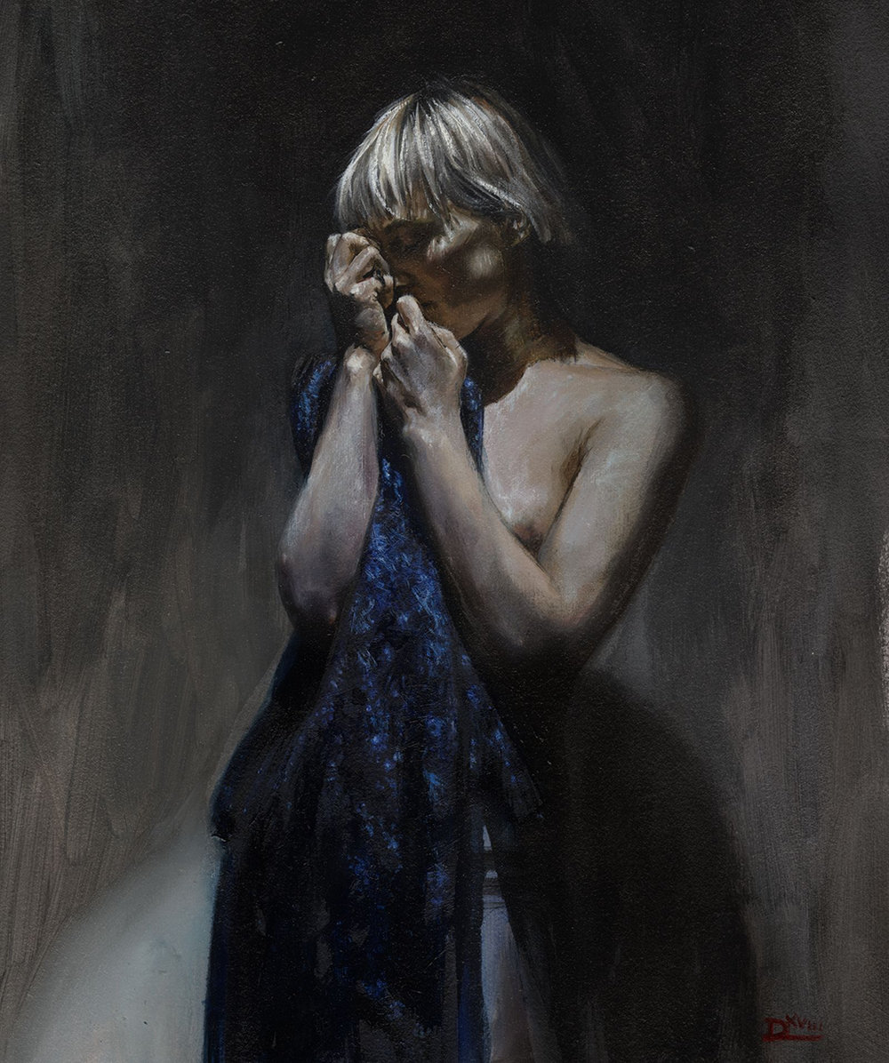 Daire Lynch |  The Promise of happiness, the recollection of sorrow.  | oil on arches paper | 14x12 inch