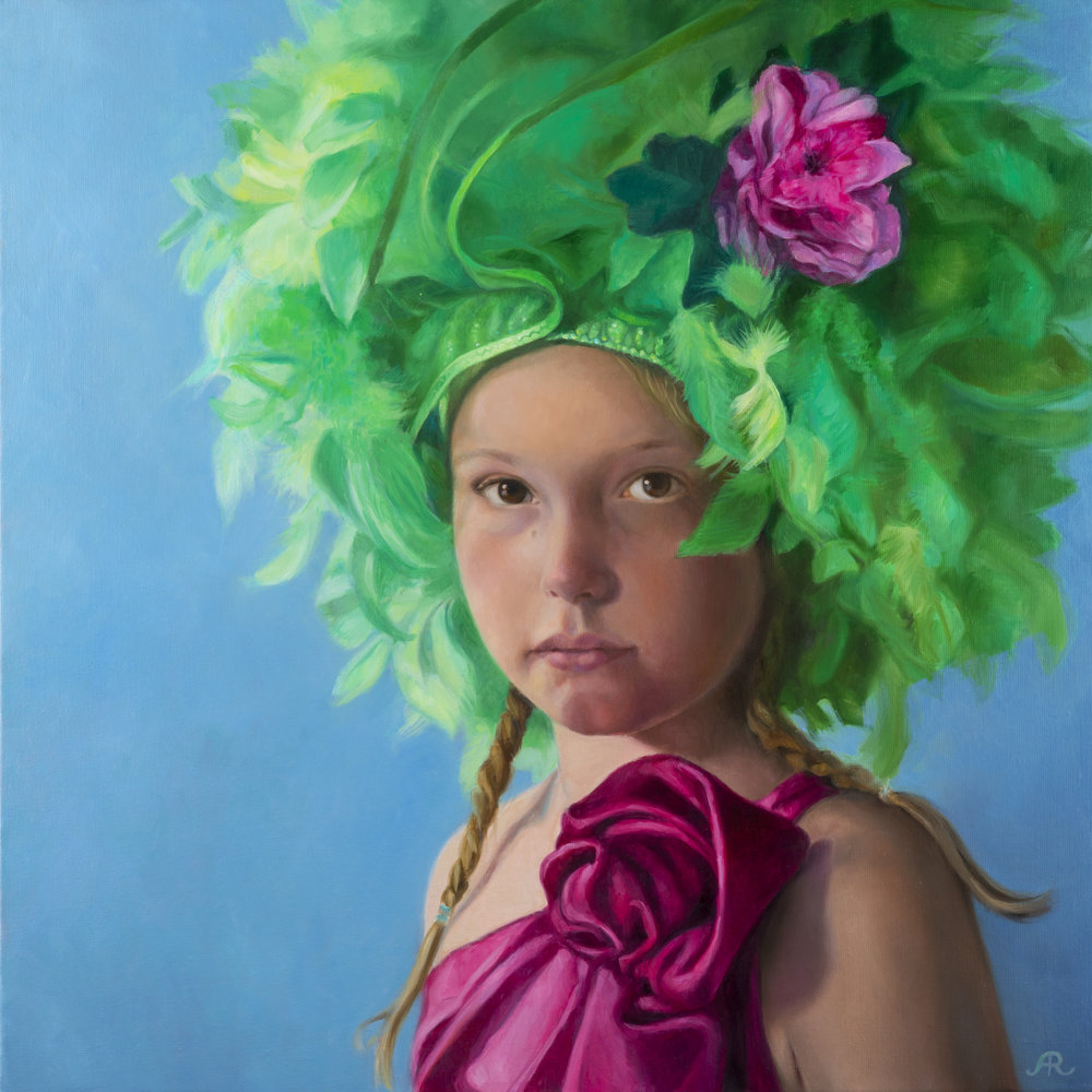 Astrid Ritmeester │  Make Believe  │ Oil on Canvas │ 32 inches square or 80 cm square