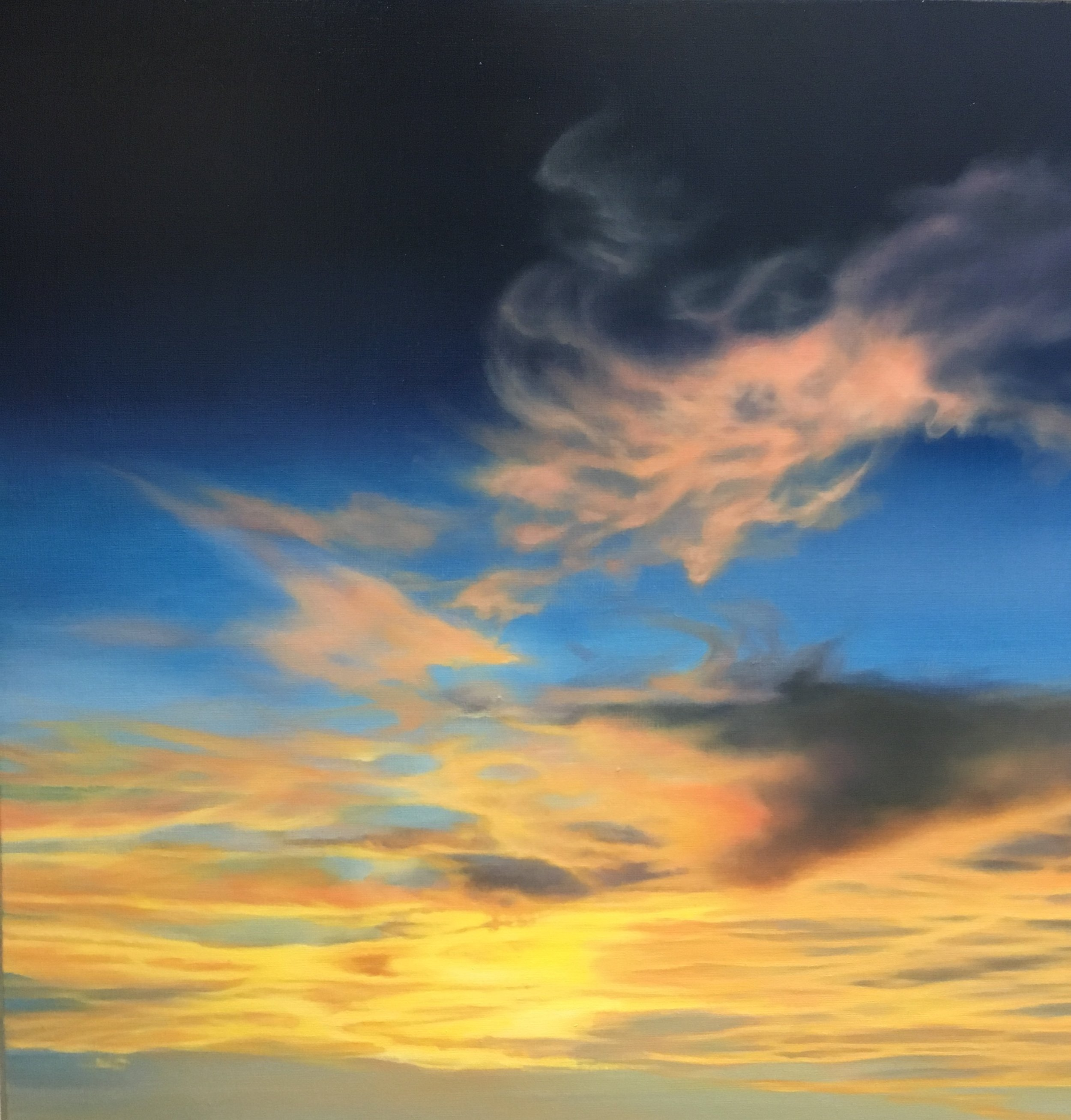 Carin Wagner │ Sky XI │ Oil on Linen │ 24 inches square or 61 cm square