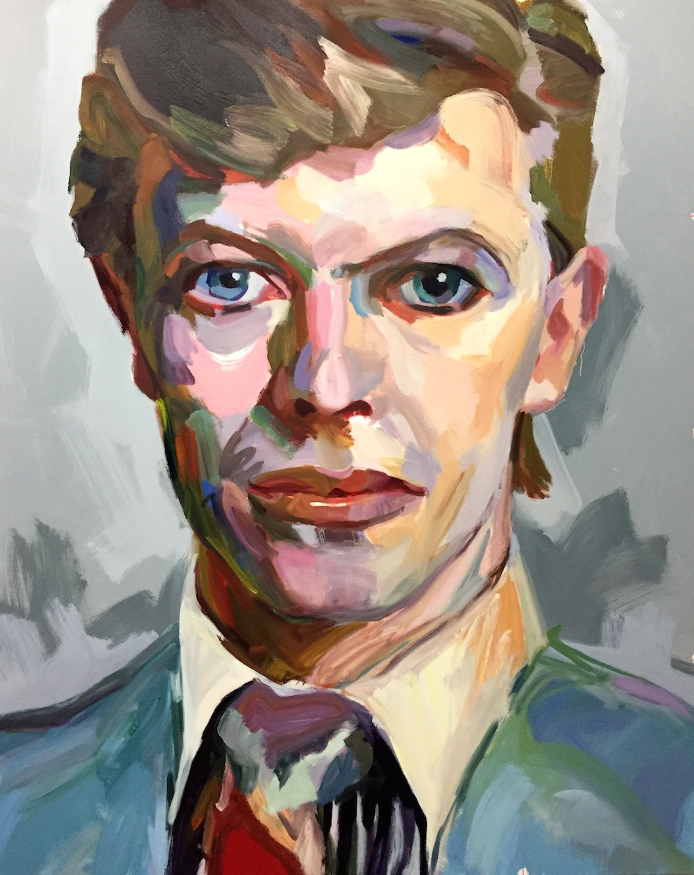 "Jo Hay, BOWIE, 60""x48"", oil on canvas, 2018"