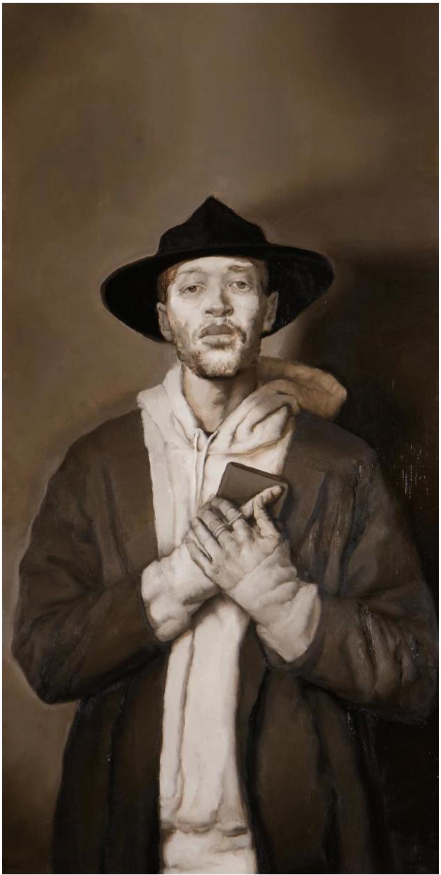 "Sylvia Maier   The Word Became Flesh  | oil on canvas | 48""x24"" | 2018"