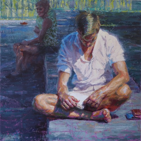 "In Their Shoes  | oil on linen | 24"" x 24"" 