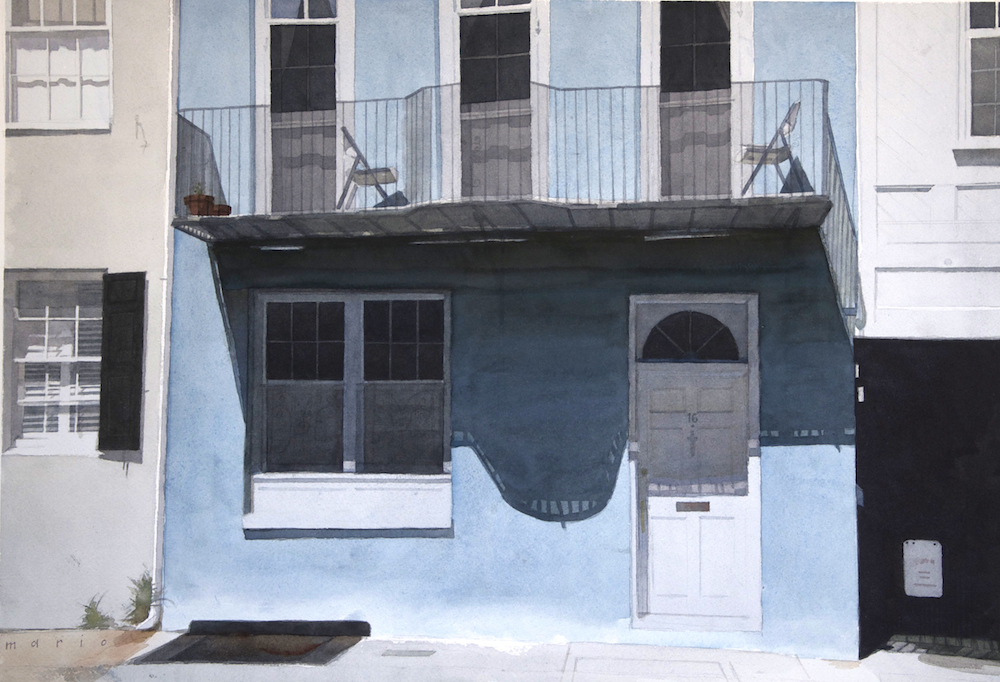 "Sixteen Broad St., Charleston, SC  | watercolor on paper | 18"" x 24"" 