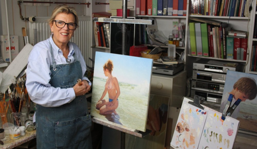 Yvonne Melchers  in the studio