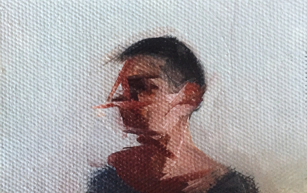 Meg  | oil on canvas | 3 × 5 inches | 2018
