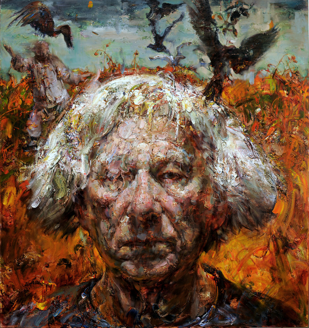 "Victor Wang |   The Crow   | oil on canvas | 53""×50"""