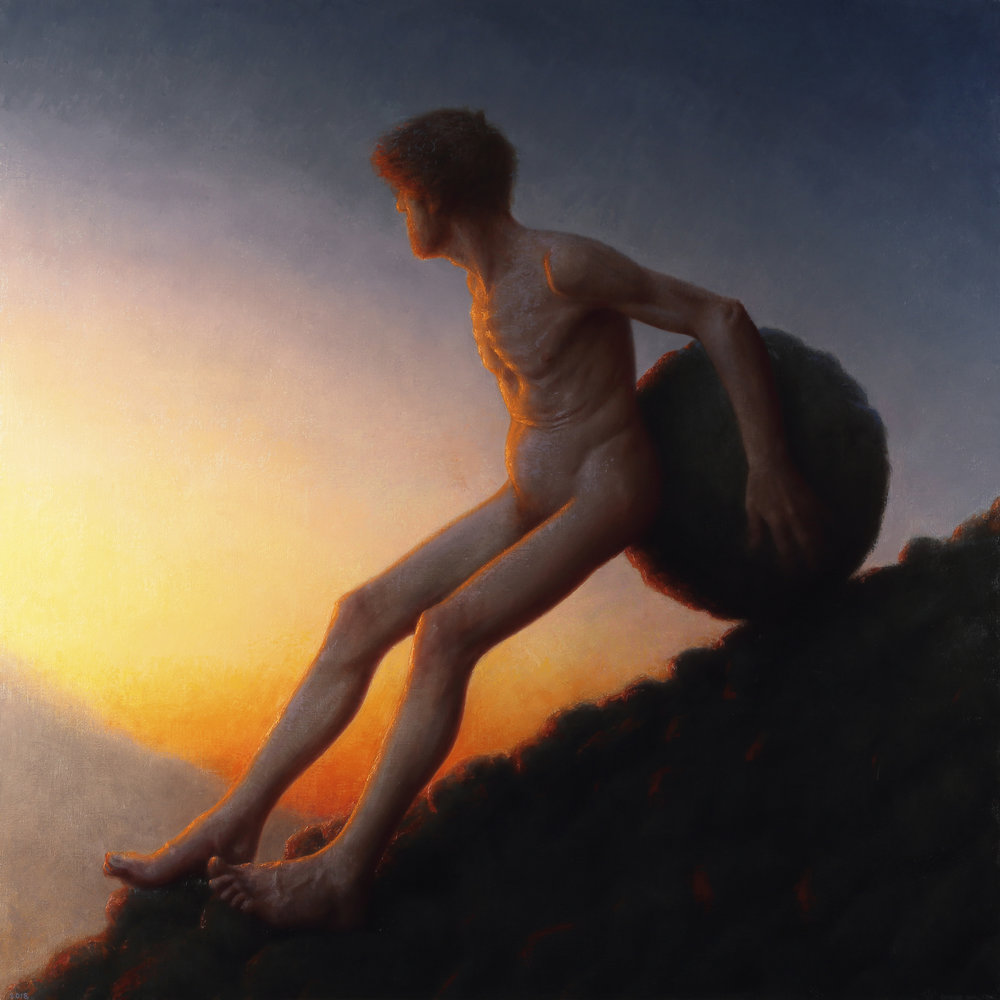 "Conor Walton |   Rest   | oil on linen | 48""×48"""
