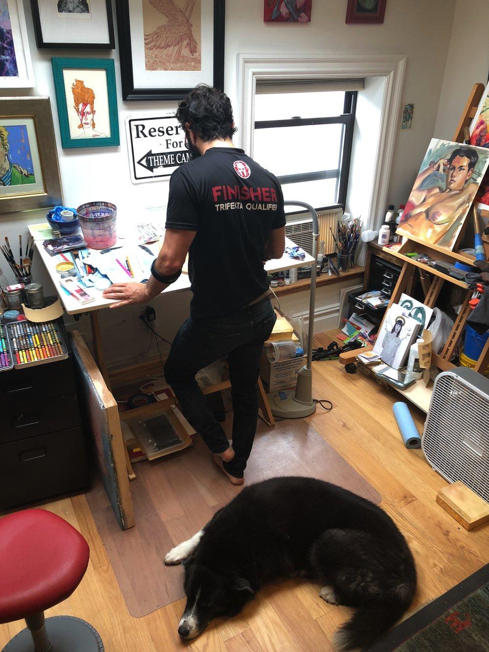 Marc Scheff  in the studio