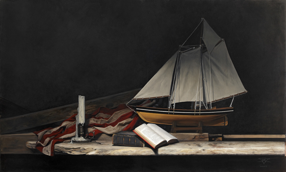 "America's Cup  | oil on canvas | 30""×50"" 
