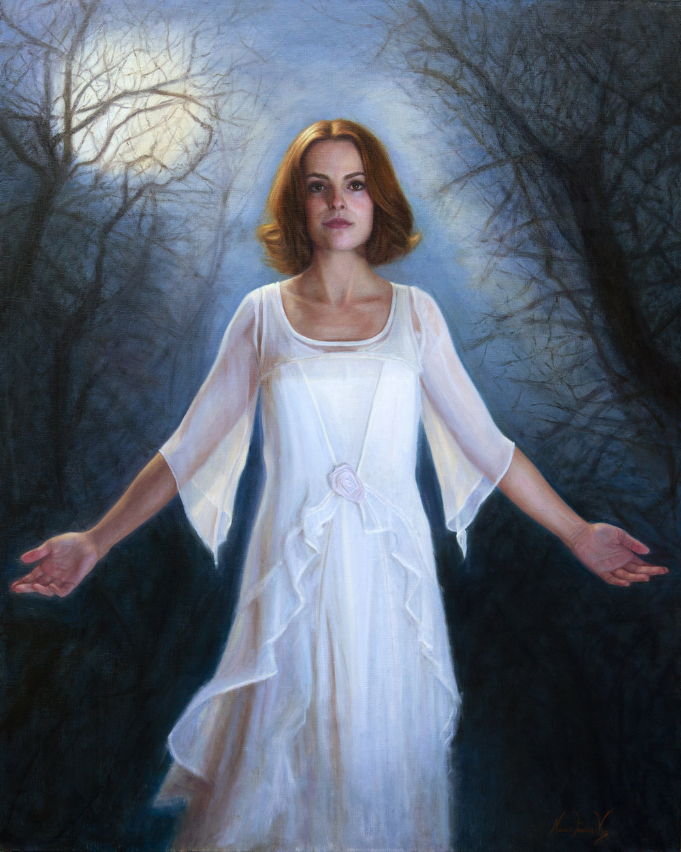 Goddess of Light  | oil on panel