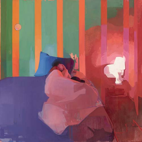 Felicia Forte |  Time Traveller, Matthew Napping  |   oil on canvas