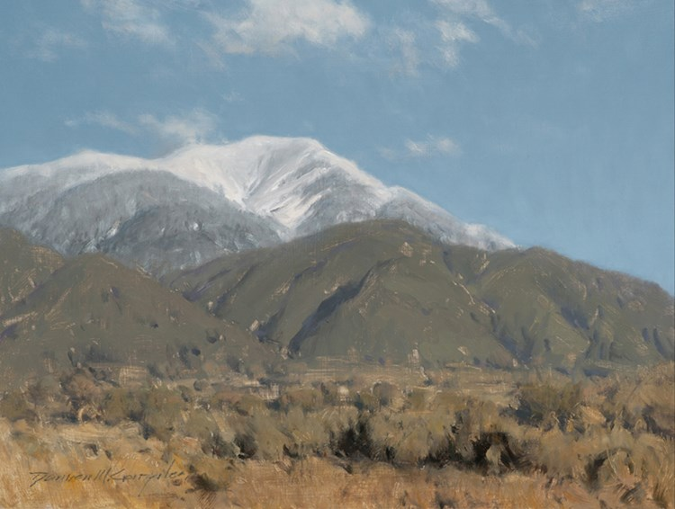 Damien Gonzalez |  Vallecito Mountian Taos  | oil on canvas