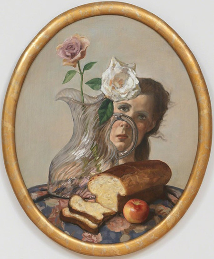John Currin |  Loaf of Bread  | oil on canvas