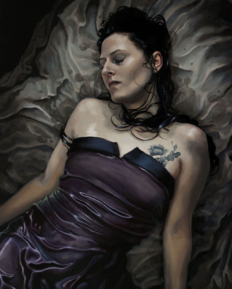"Ophelia  | oil on panel | 30"" × 24"" 