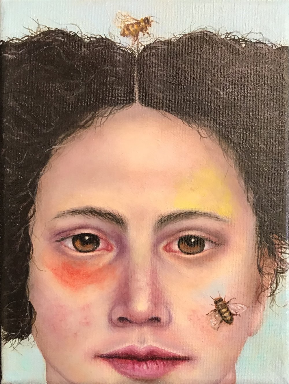 Graziella Mura - The perfume is invisible to the eyes - Oil on canvas -7x9,4 inches - 2018.JPG