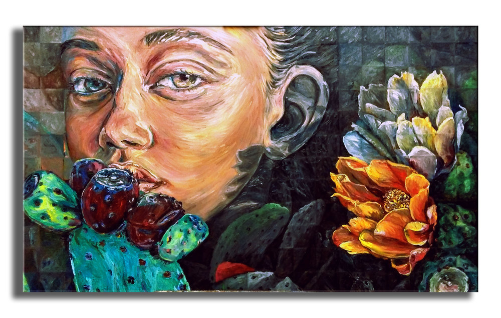 """Optunia in Sight    oil on canvas   36"""" × 60"""""""