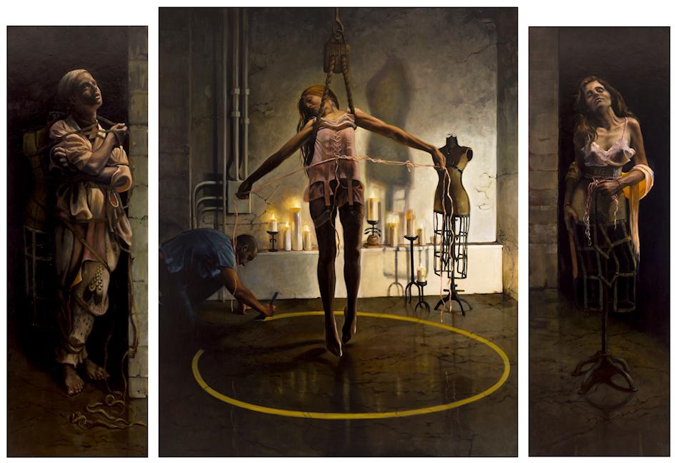 Regina Jacobson -  Cult of Beauty , Altar Piece, triptych