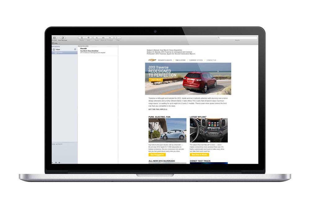 Chevrolet Email Layout