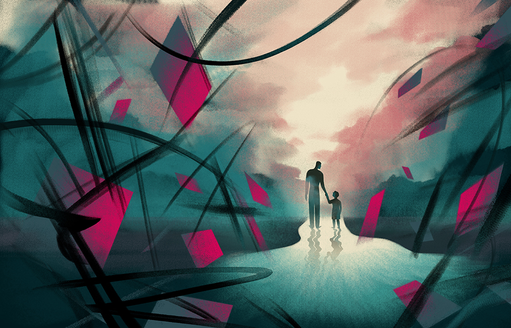 Until the End  | AD: Jim Datz, Nathan Huang  Illustration for The New York Times Sunday Review, an   article   about learning from his 4-Year-Old son.