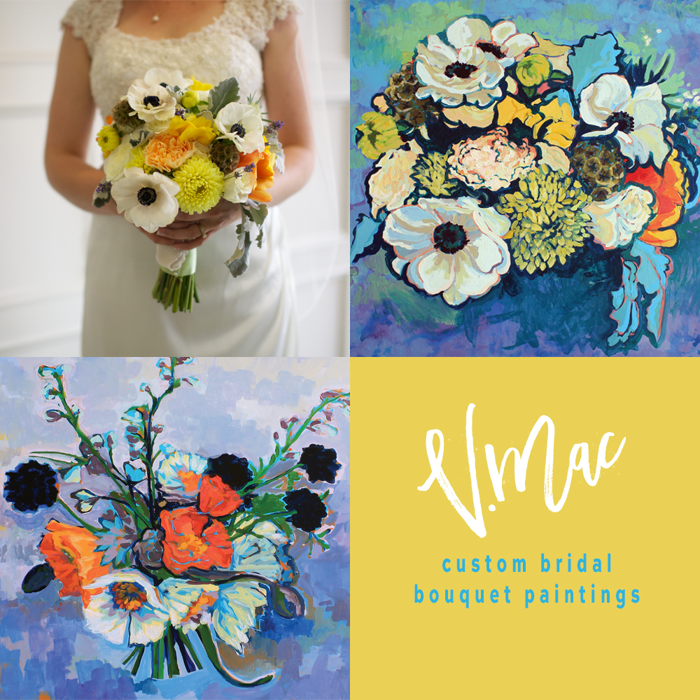 Custom Bridal Bouquet Paintings — vmac painting