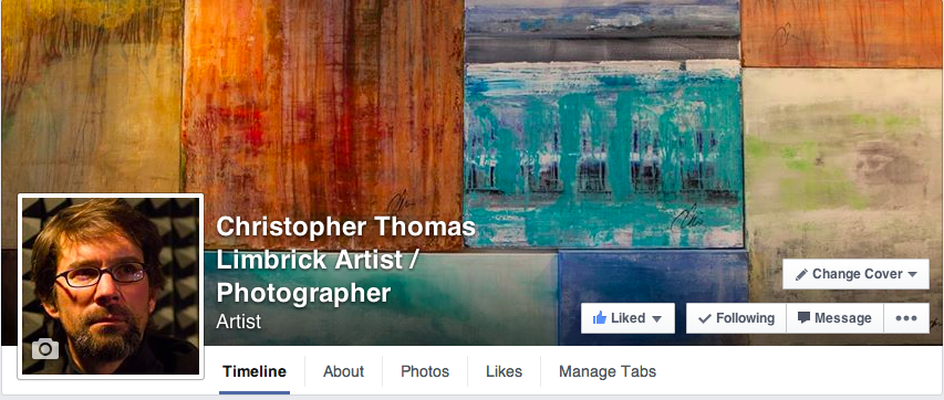 Artist launches official Facebook page.  www.facebook.com/christopherthomaslimbrick