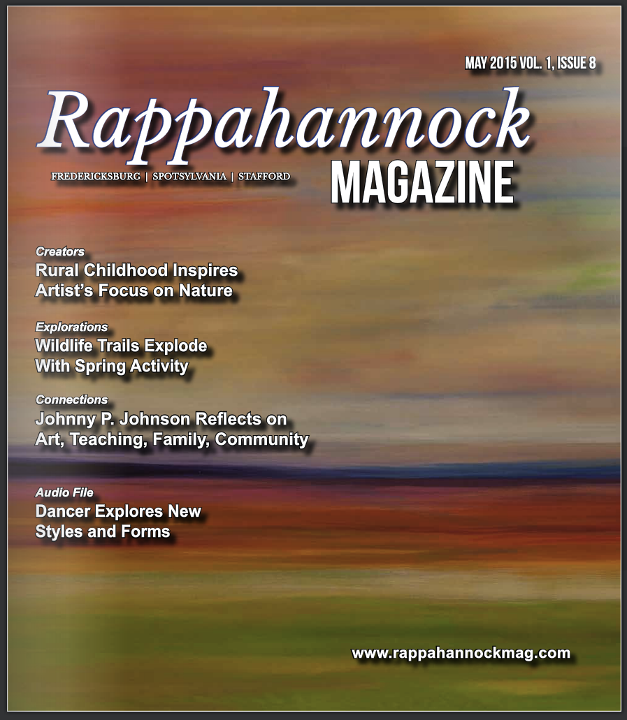 Rappahannock Magazine Cover Artist, May 2015, Vol. 1, Issue 8