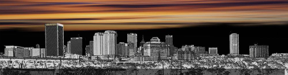 RVA Sunset Cityscape