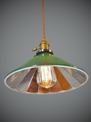 mirrored lighting. Industrial Pendant Lamp With Mirrored Cone Shade Lighting