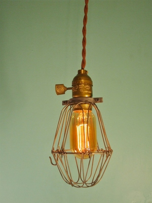 caged lighting. Vintage Caged Pendant Lamp Lighting