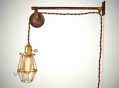 pulley lighting. Vintage French Industrial Pulley Lamp - Petit Lighting Y