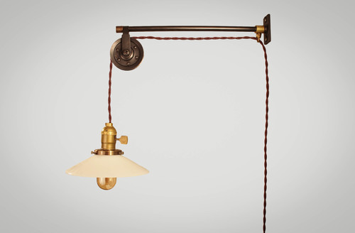 french industrial lighting. Vintage French Industrial Pulley Lamp - Petit Lighting I