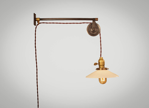 pulley lighting. Vintage French Industrial Pulley Lamp - Petit Lighting S