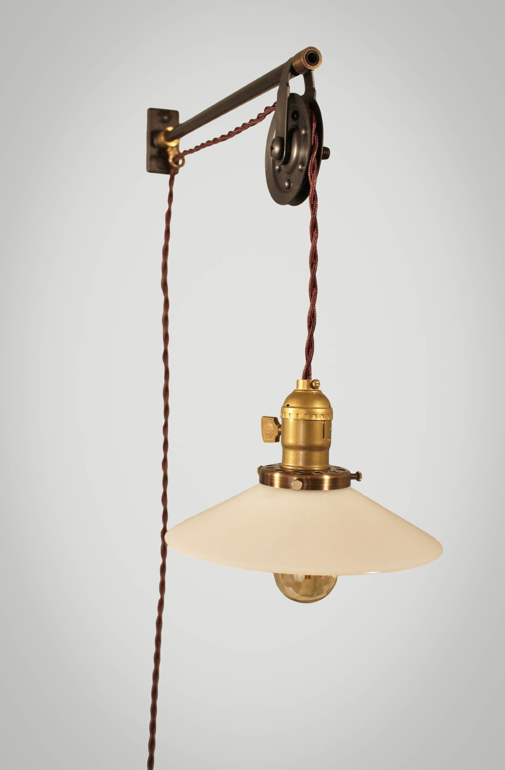 pulley lighting. vintage french industrial pulley lamp petit u2014 dw lighting co d