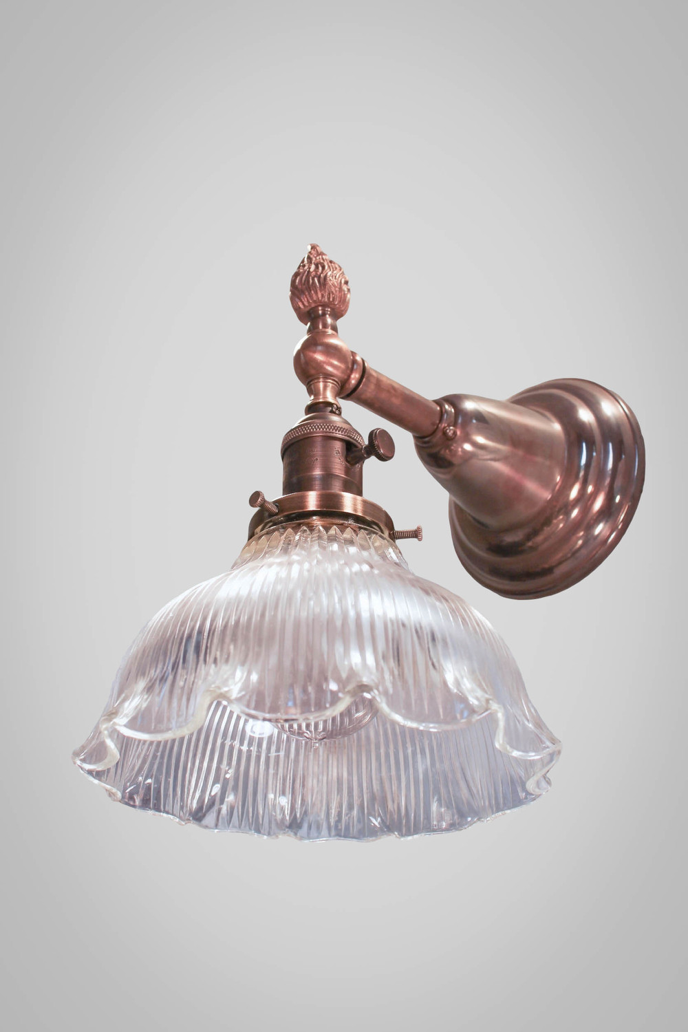 Antique Victorian Wall Sconce with Glass Holophane Shade & Antique Victorian Wall Sconce with Glass Holophane Shade u2014 DW ...