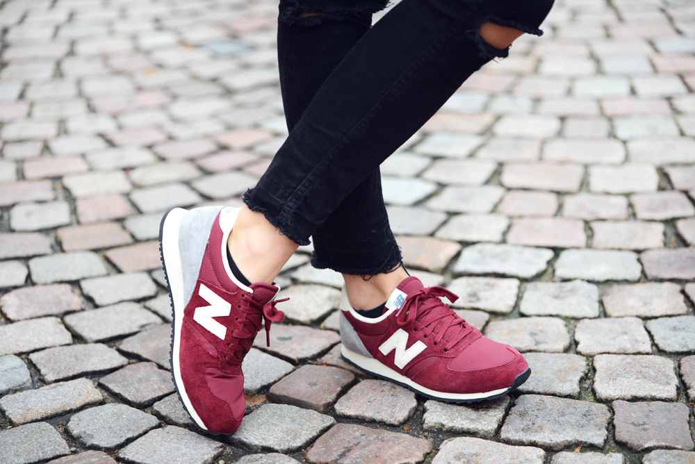 New Balance Burgundy Sneakers