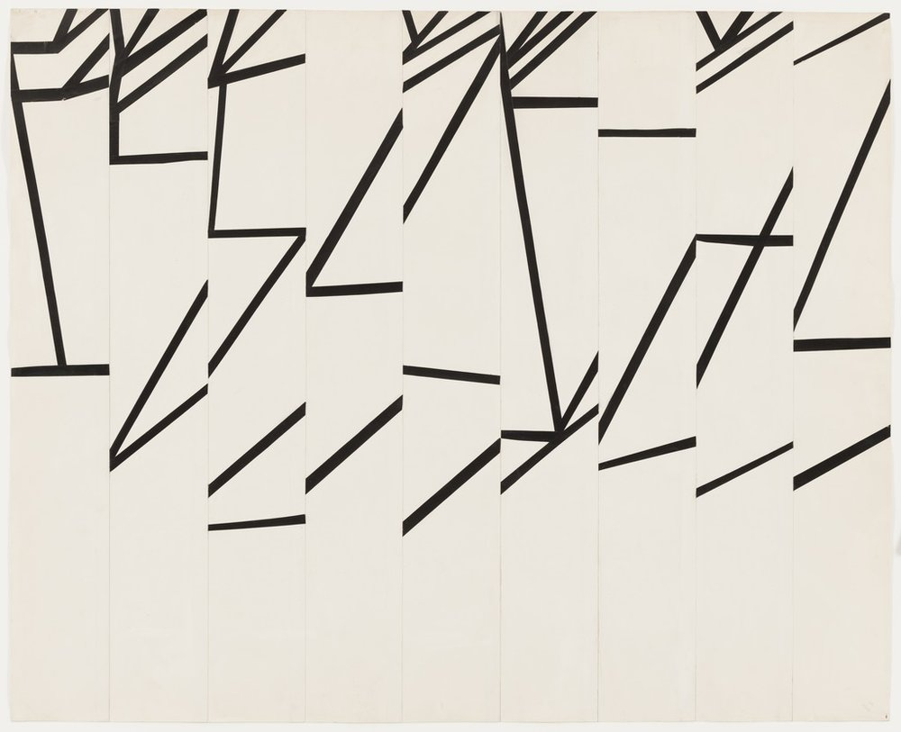 ELLSWORTH KELLY,   Study for La Combe II  , 1950