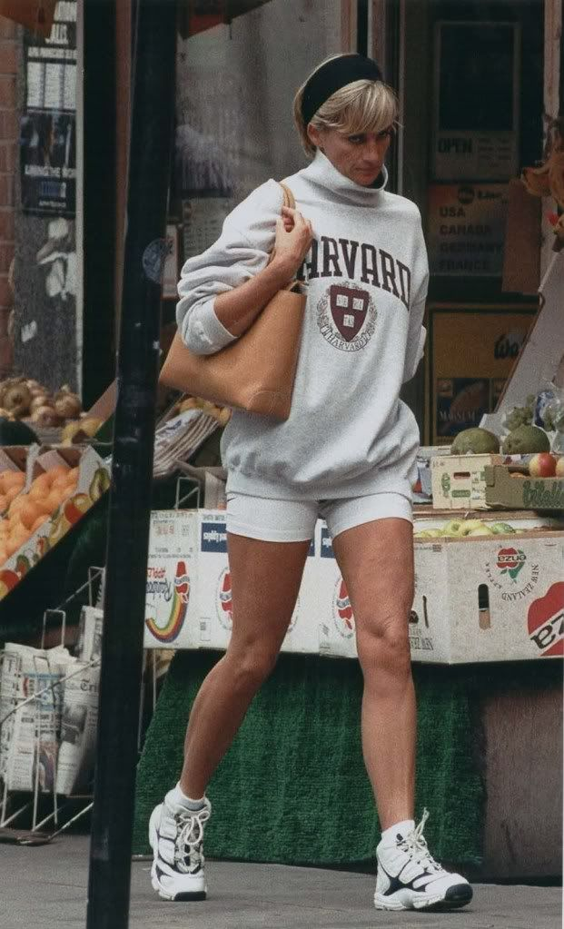 If you're not sold on the look yet... - remember Princess Diana herself wore this trend years ago and looked incredible. Oversized Harvard hoodie and sneakers, it's ICONIC. I'm here for it.