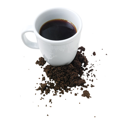 Coffee grounds are great for face or body exfoliation .  Caffeine helps circulation in skin.