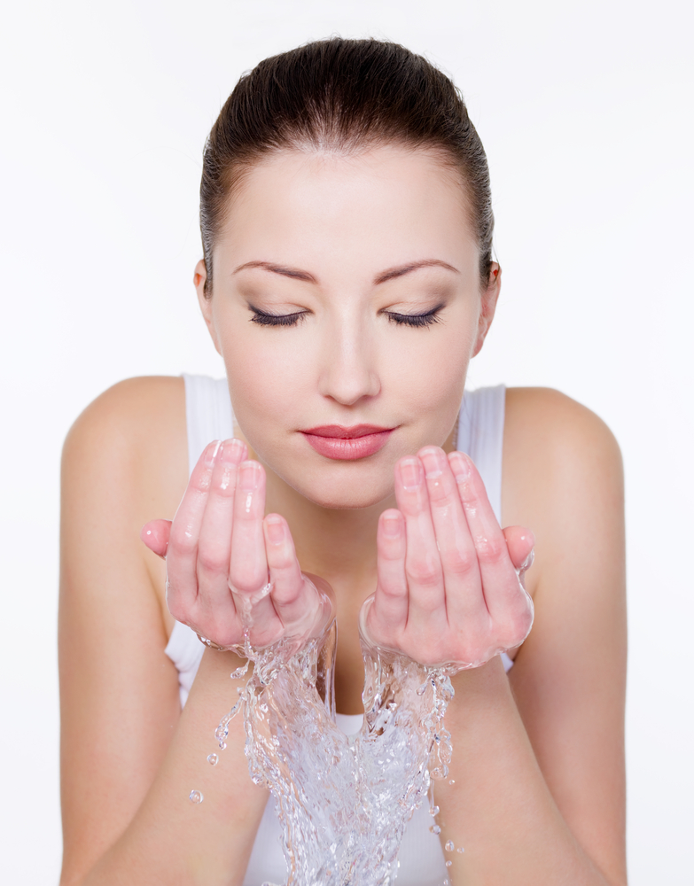 Wash face with luke warm or cool water to reduce redness.