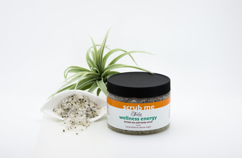 Our wellness energy scrub is  best for dry hands.