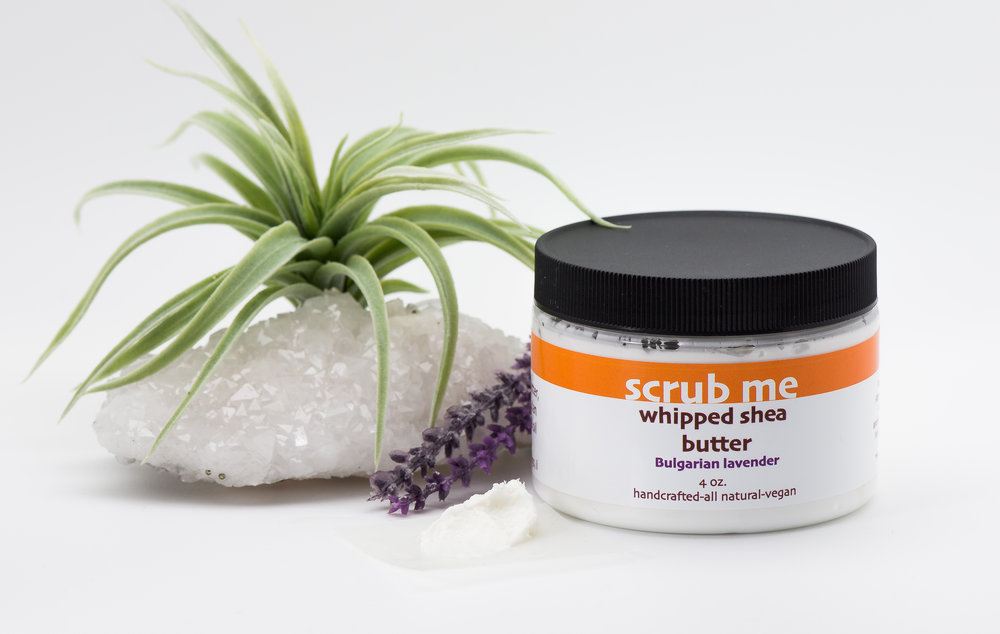 Lavender shea butter is made with Bulgarian lavender, great for relaxing the senses