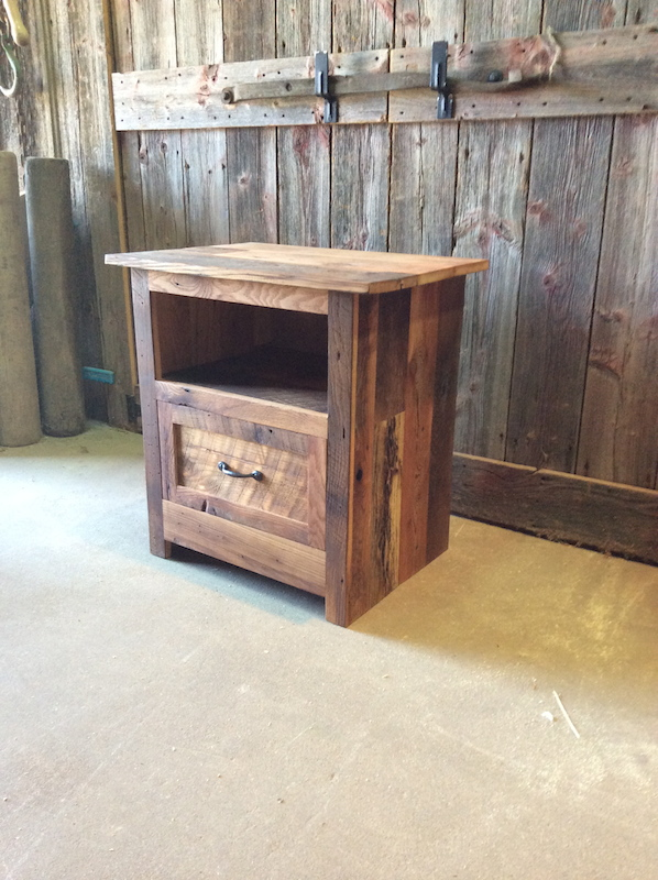 - Reclaimed Wood Nightstand - WHAT WE MAKE
