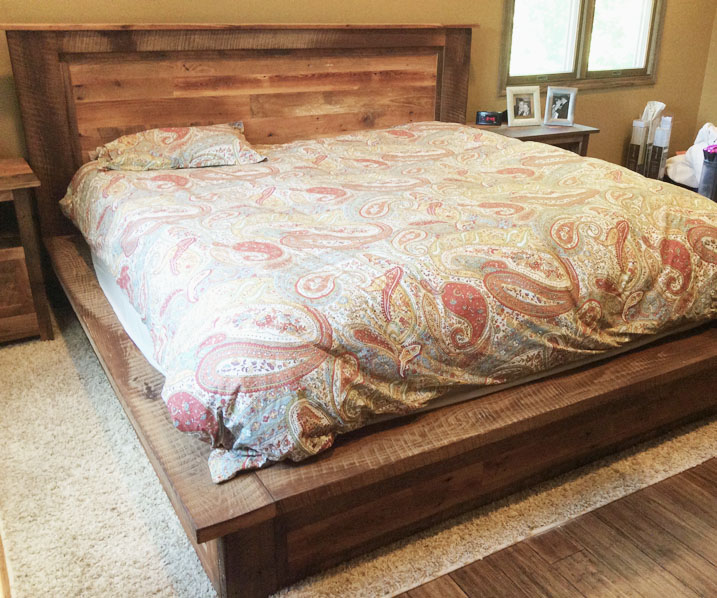 Reclaimed Wood Bed Frame + Storage Drawers - Reclaimed Wood Bed Frame + Storage Drawers - WHAT WE MAKE